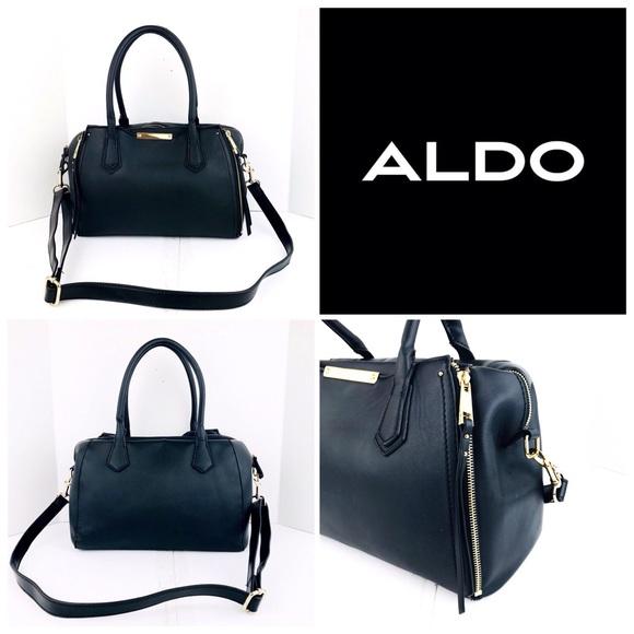 1142c47bd55 Aldo Handbags - Aldo Vegan Black Leather Satchel